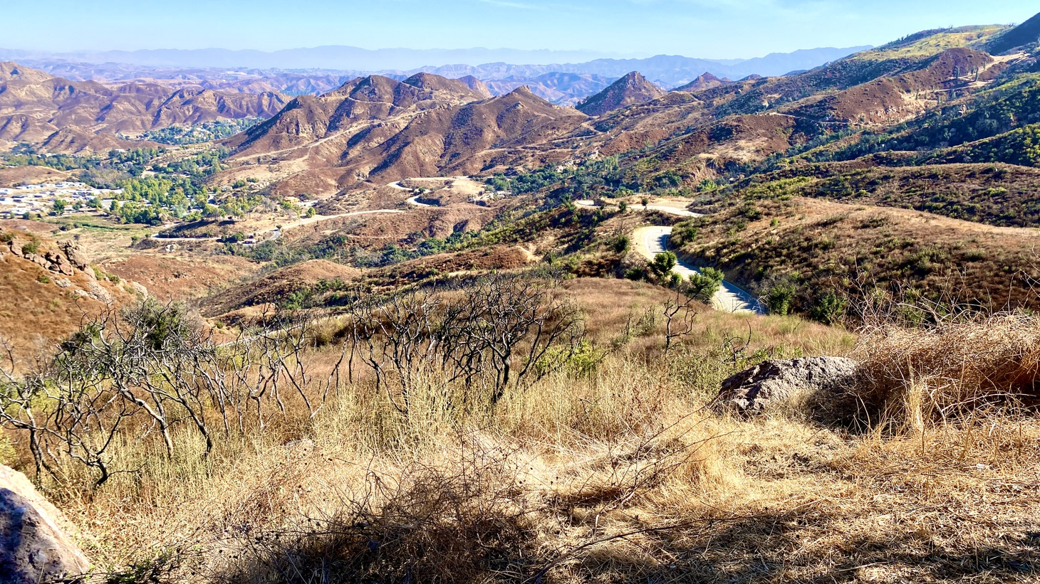 A landscape view from Mulholland Highway in Malibu, California, November 14, 2020. The Santa Monica Mountains National Recreation Area currently includes Malibu. Congressman Adam Schiff is pushing for a major expansion of the area.