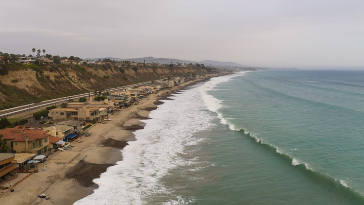 Capistrano Beach in Dana Point has been battered by storms and rising sea levels in recent years.