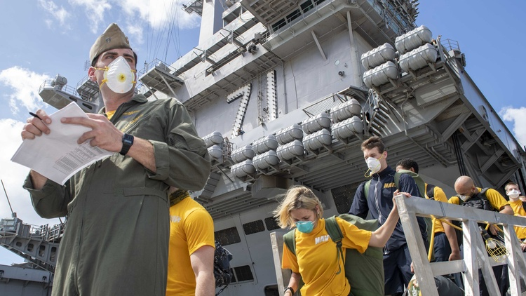 Captain Brett Crozier was removed as commanding officer of the USS Theodore Roosevelt in early April for sounding the alarm over a coronavirus outbreak on his San Diego-based aircraft…
