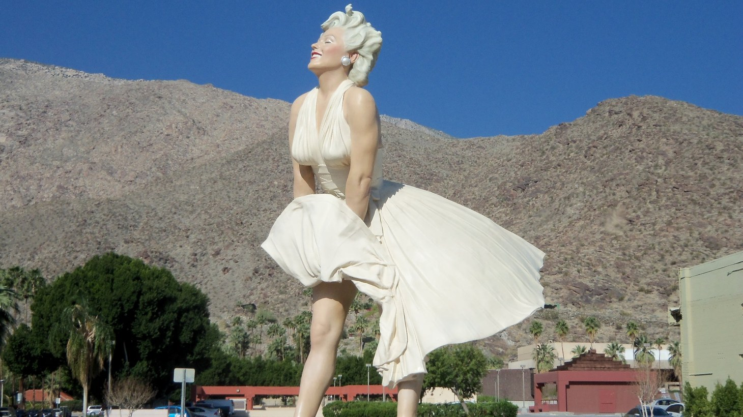 "When ""Forever Marilyn"" was last in Palm Springs, the statue had a primo downtown location at the intersection of Palm Canyon Drive and Tahquitz Canyon Way. Since departing in 2014, the once open lot that was unofficially dubbed ""the Marilyn park"" has been turned into the Kimpton Rowan Hotel."