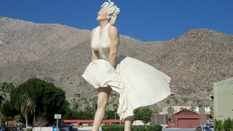 "Seward Johnson's 2011 sculpture ""Forever Marilyn"" depicts the truly iconic Marilyn Monroe mid-subway breeze from that famous scene in ""The Seven Year Itch."""