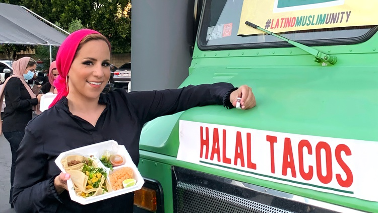 If you drive by a mosque in Orange County around sunset, you may see a mobile COVID-19 vaccination unit and a halal taco truck.