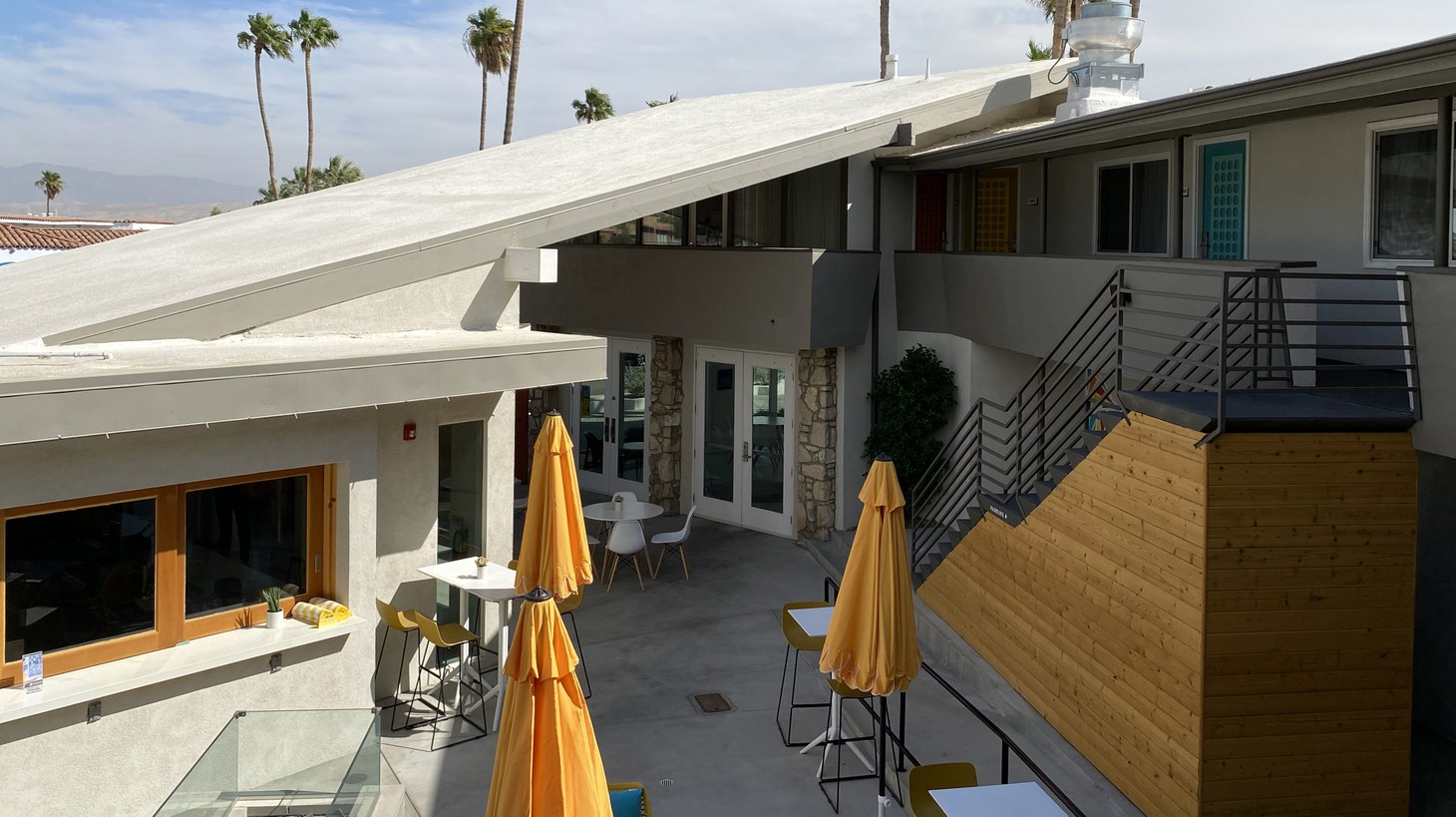 With its warm desert air and sleek mid-century architecture, Palm Springs has been a getaway for generations. Coronavirus doesn't seem to be tarnishing its reputation for sun, fun, and escape.