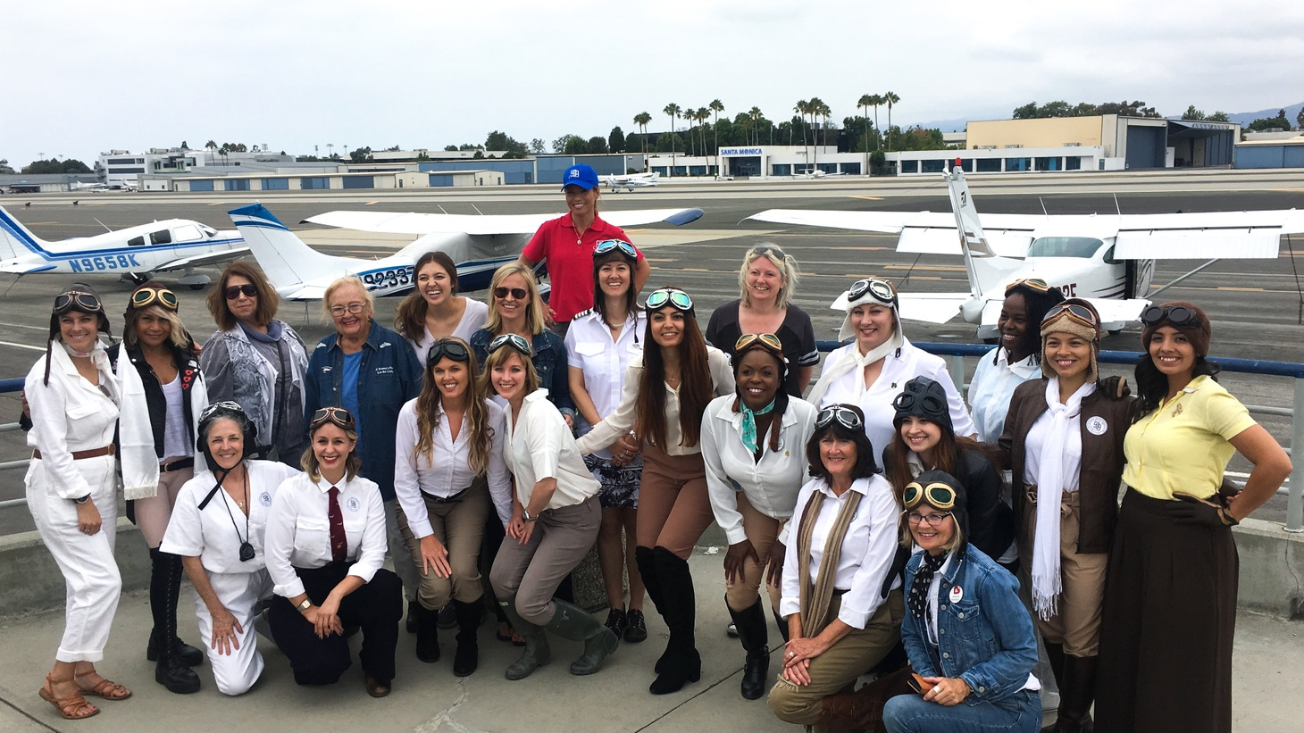 Participants of the August 18, 2019 air race from Santa Monica Airport to San Bernardino Airport.