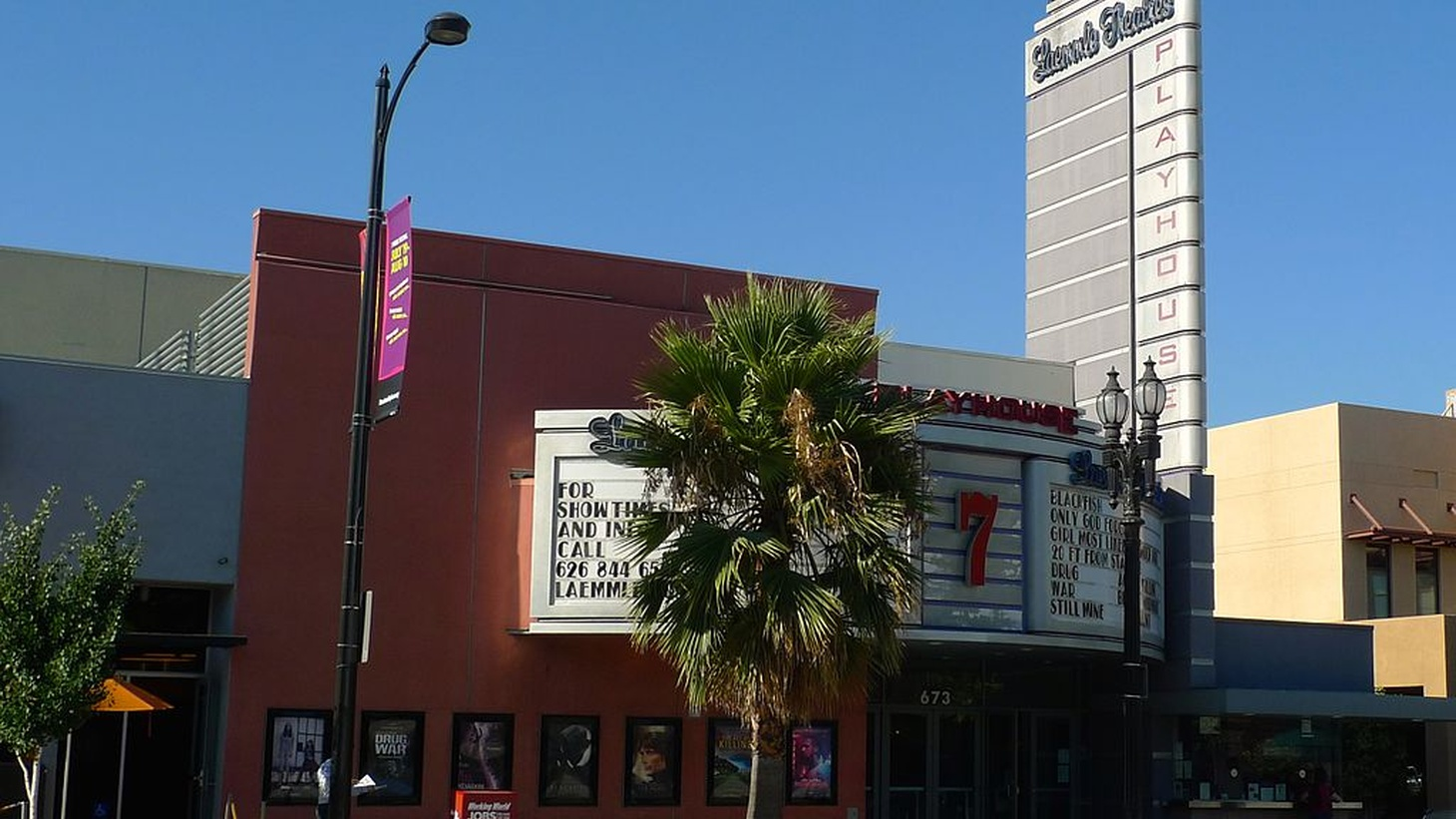 Laemmle Theatres Playhouse 7 in Pasadena, California, a theater that shows many independent films.