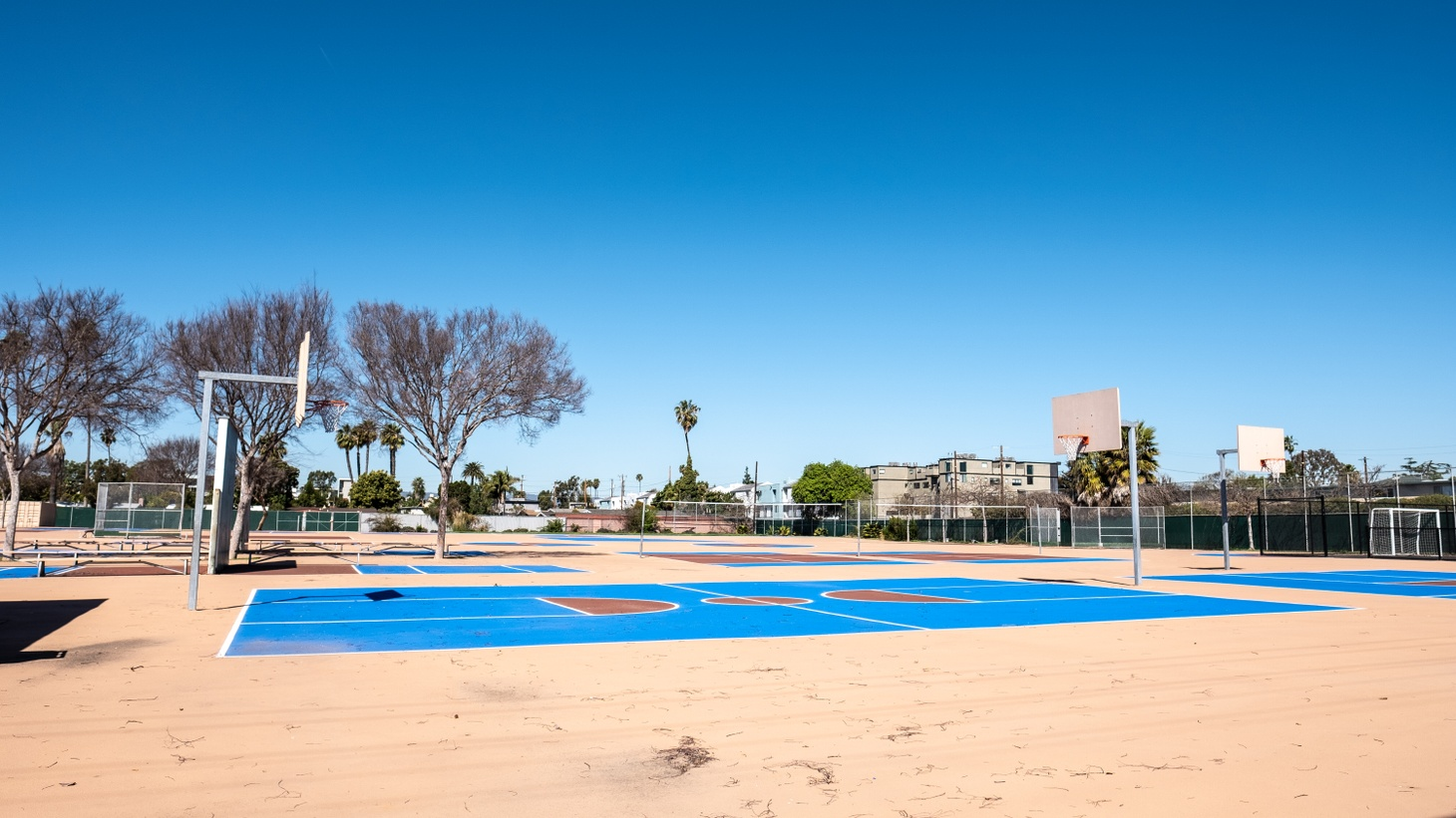 The playground at one LAUSD elementary school sits empty in Culver City, California, March 1, 2021. On March 11, 2021, the Los Angeles Unified School District and its teachers union, UTLA, reached a tentative agreement to reopen some classrooms as soon as April.