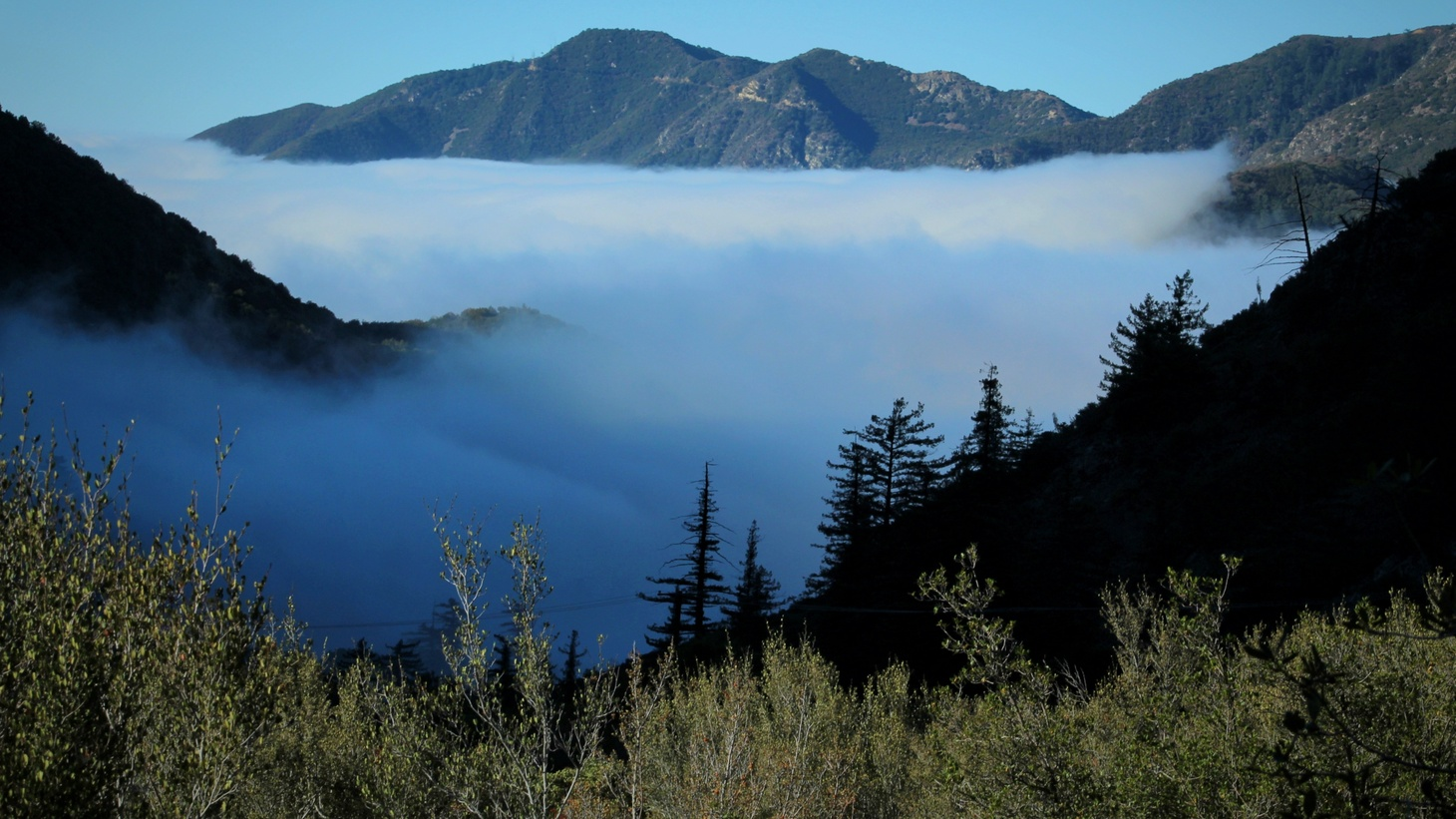 Clouds over Angeles National Forest, CA.