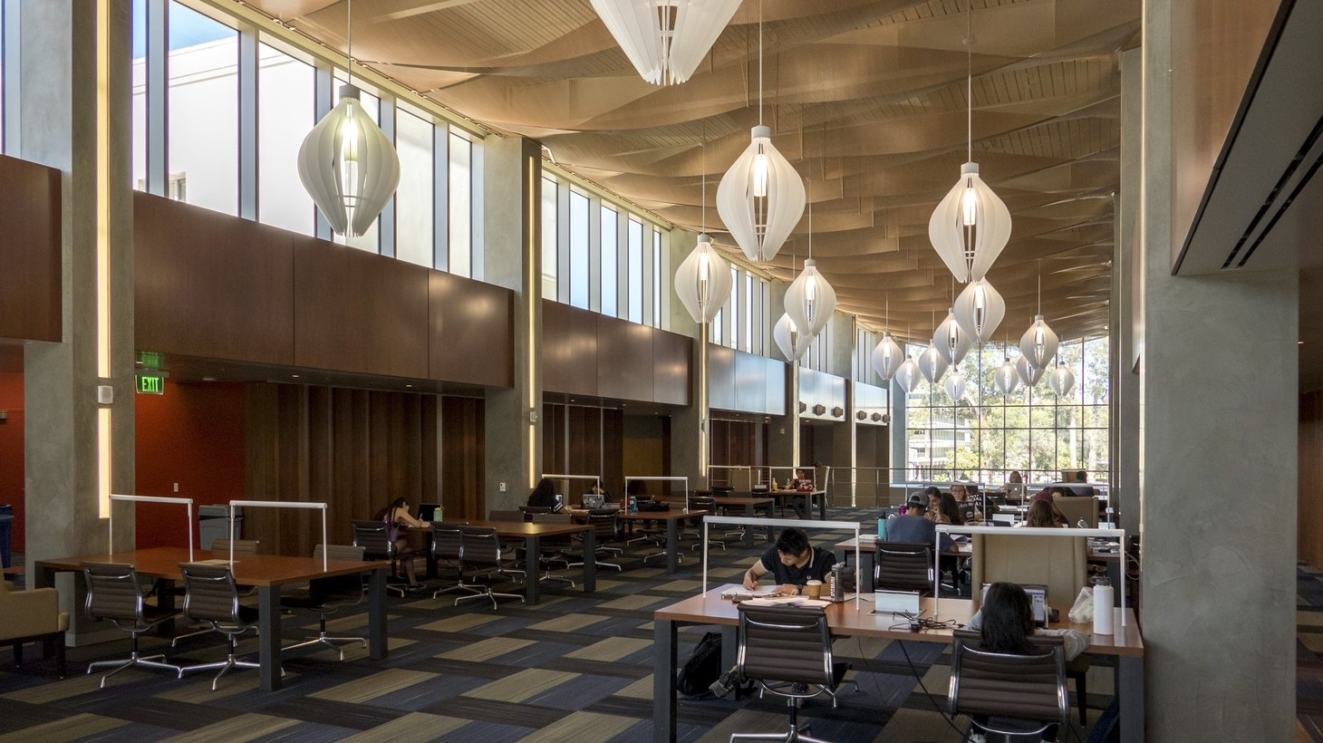 Inside UCSB Library.
