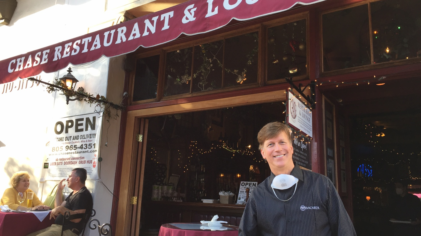 Warren Butler manages The Chase Restaurant in Santa Barbara. He says they're taking full advantage of the new rules allowing eateries to expand out onto the sidewalk.