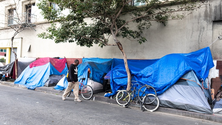 An employee of the Union Rescue became the first person on Skid Row to be diagnosed with COVID-19. He was picking up and delivering basic supplies like food and first aid equipment.