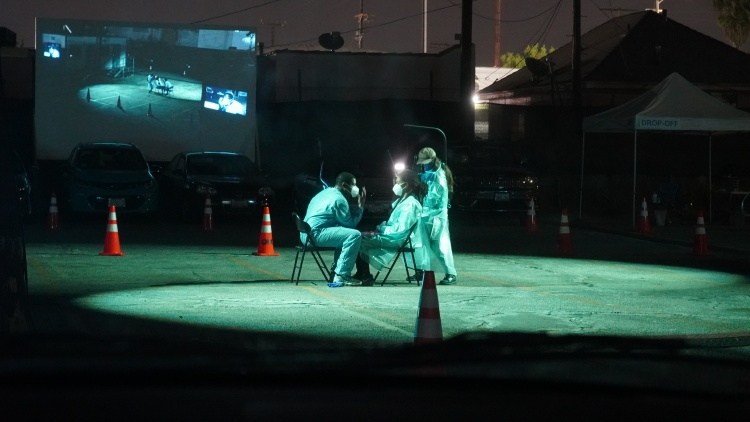 The Slauson Rec Theater Company has turned a parking lot into a stage for their latest play, which is inspired by frontline workers and touches upon race and class.