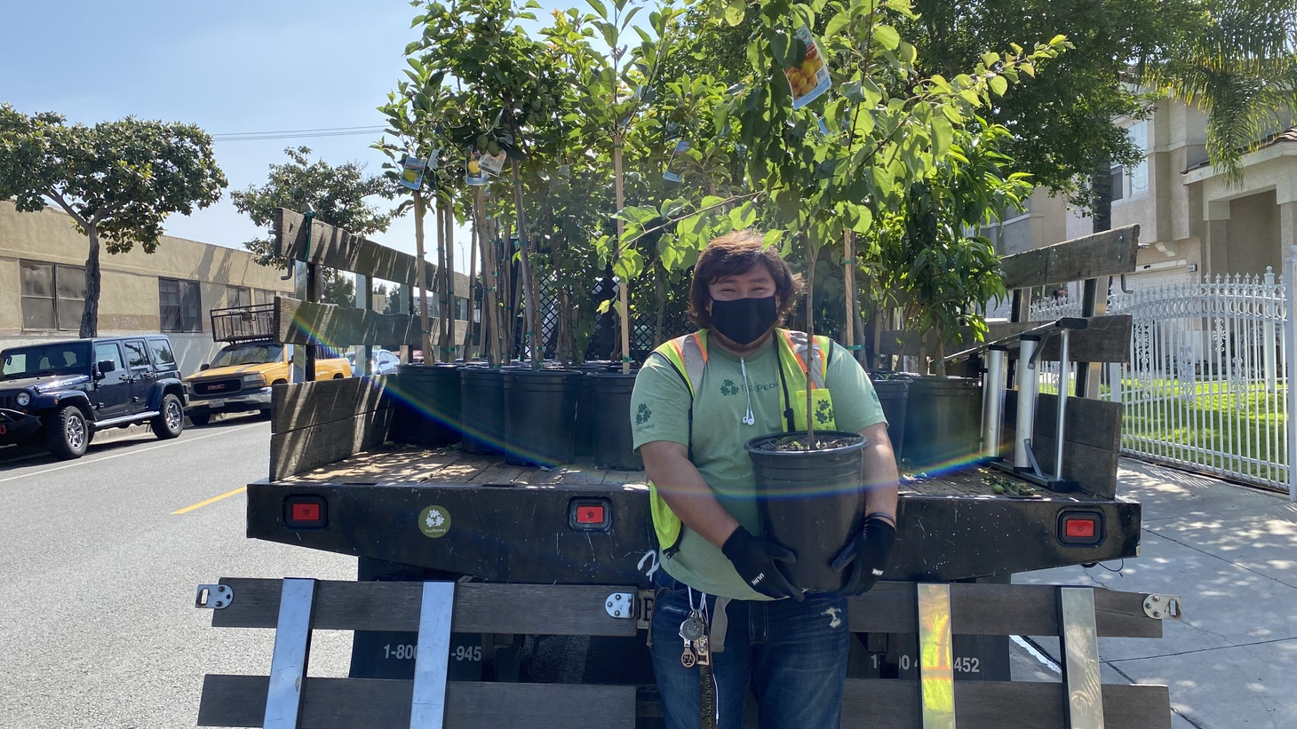 Food insecurity during the coronavirus pandemic is threatening communities across LA. TreePeople organizer Miguel Vargas delivers fruit trees to those in need.