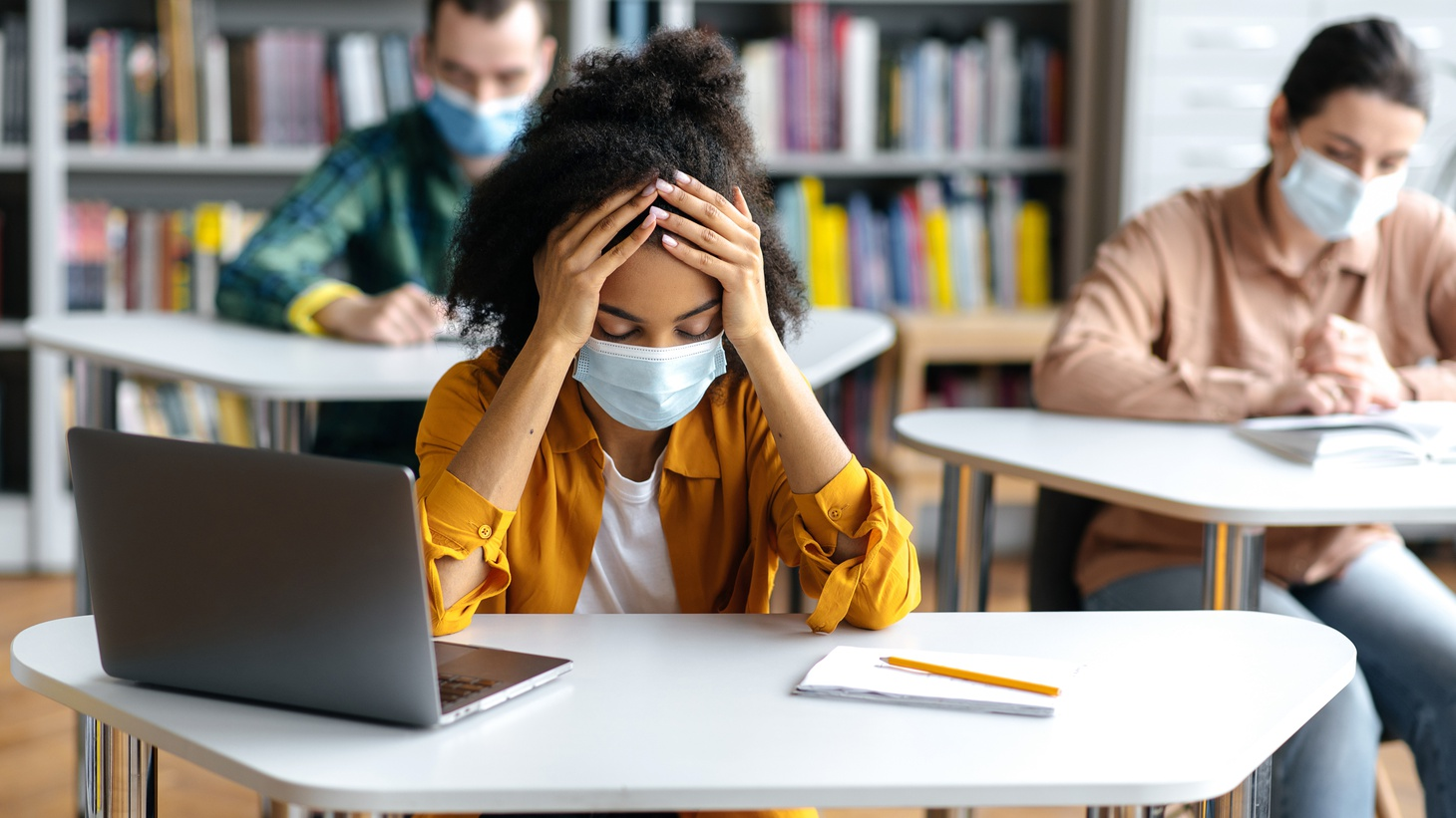 Nearly half of parents of teenagers saw a new or worsening mental health condition in their child since the start of the pandemic,according to a national poll from the C.S. Mott Children's Hospital in Michigan.