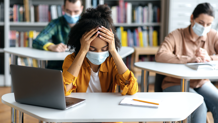 Nearly half of parents of teenagers saw a new or worsening mental health condition in their child since the start of the pandemic,according to a national poll from the C.S.