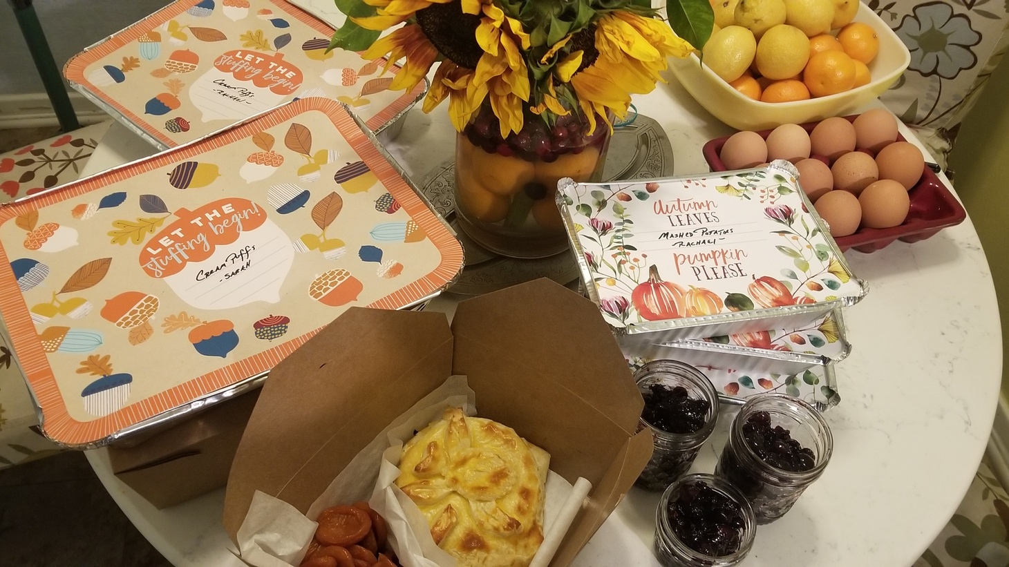 Hannah Benage says she and her three sisters are making family recipes this Thanksgiving, and they'll drop them off at each other's doors to trade.
