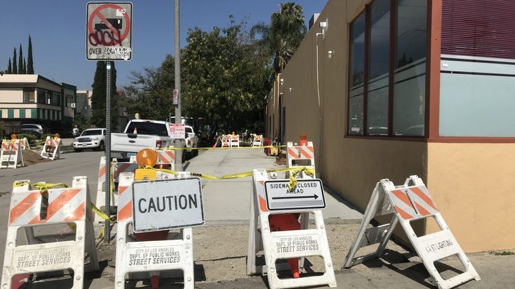 Despite thousands of requests to repair LA's sidewalks each year, city officials say they can only manage to fix about ten a month.