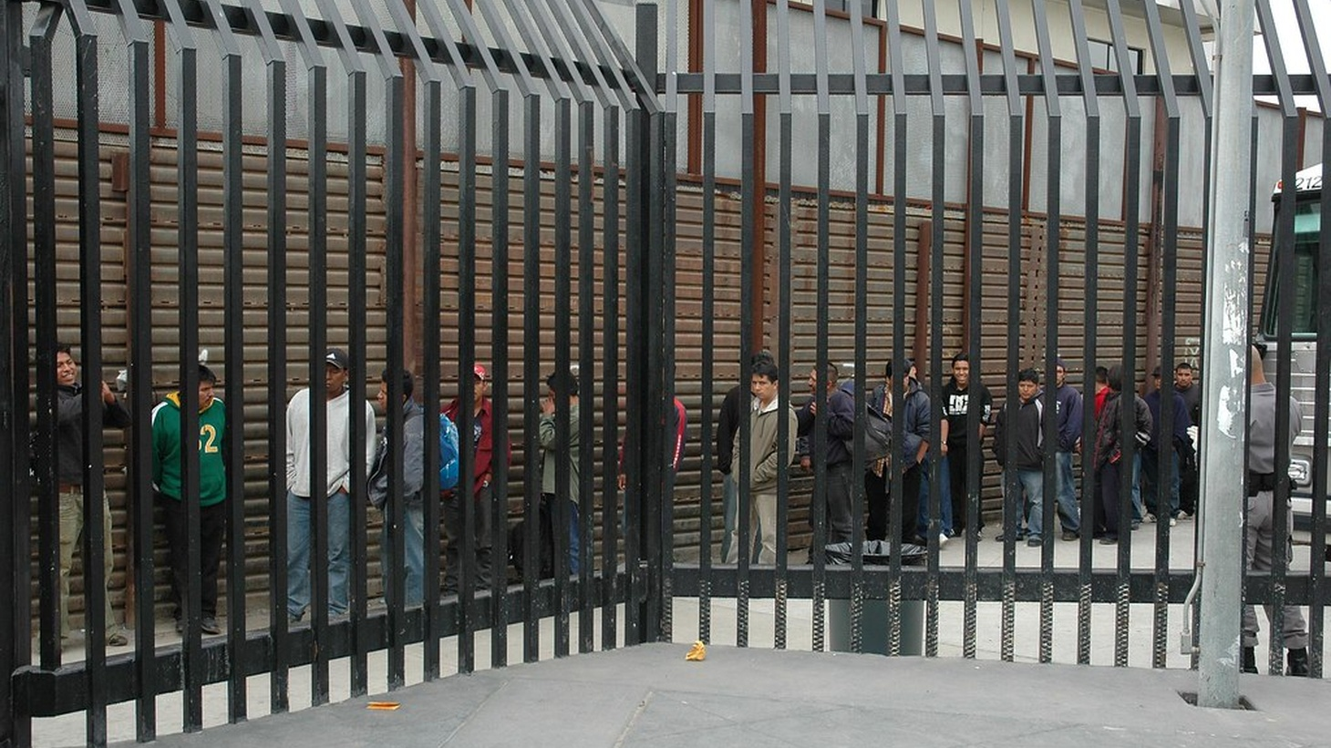 Looking outside a detention center
