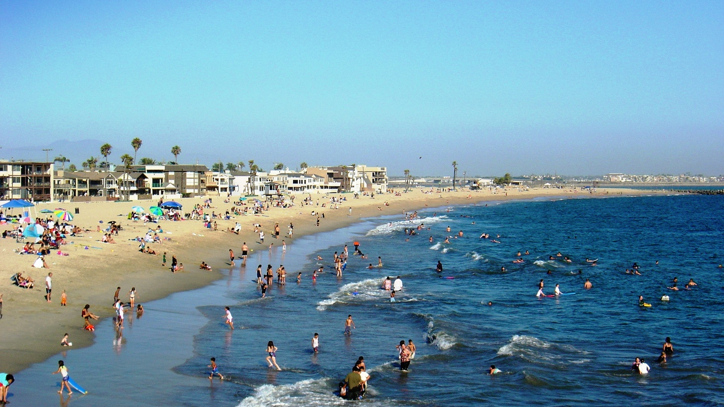 Seal Beach, California, on a crowded summer day
