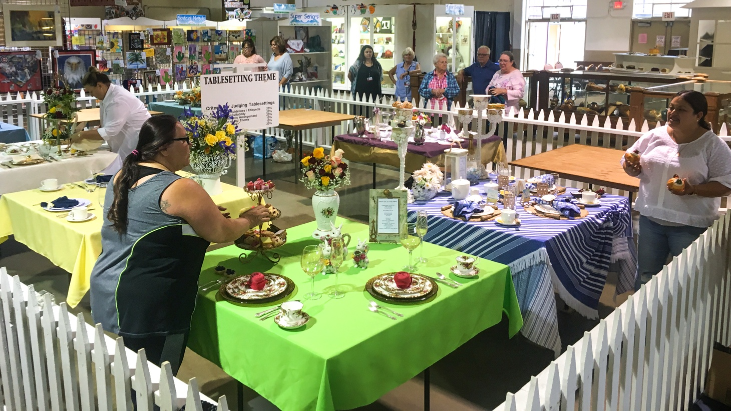 Competitors in the 2019 table setting competition at the Ventura County Fair.
