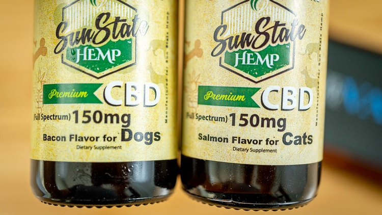 In California, many people are turning to cannabidiol (CBD) for their pets who are suffering from anxiety, joint pain, and other ailments.