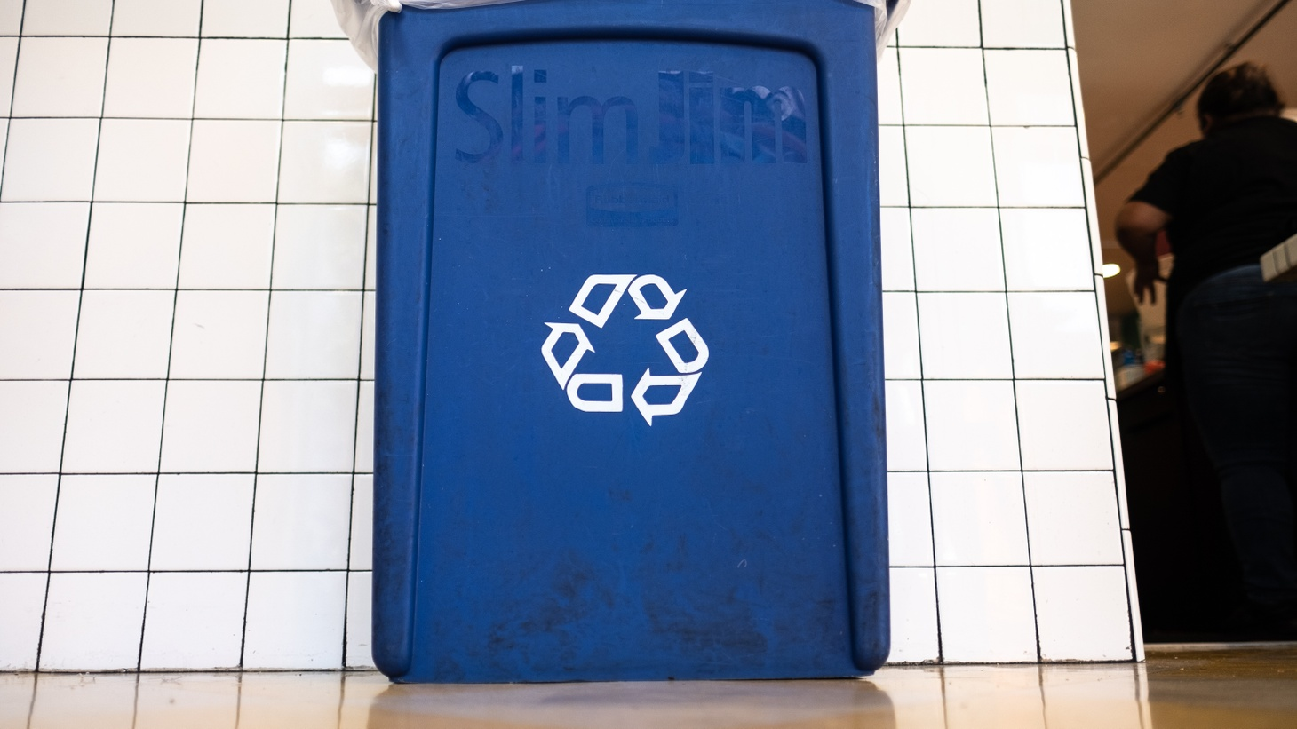 A recycling bin at Sonoratown restaurant in downtown LA.