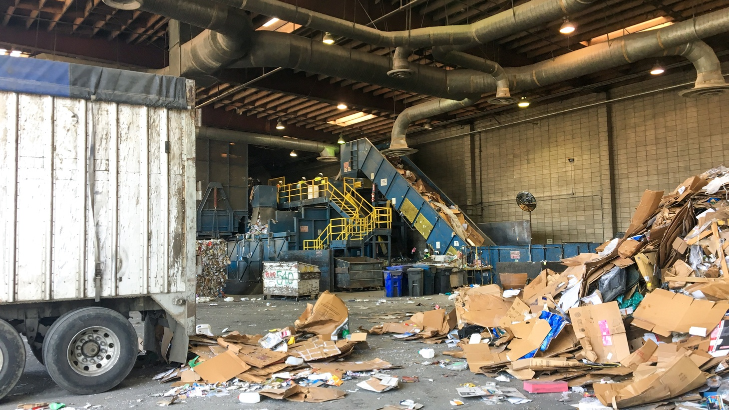 Burbank Recycling processes 100-120 tons of material each day. In recent years, cardboard has made up a growing proportion of materials, especially as consumers increasingly turn to online shopping.