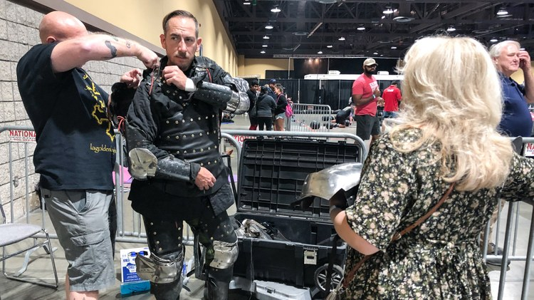 There's a growing community of warrior enthusiasts who put on armor and use real weapons to live out a fantasy. But this isn't Medieval Times-type stuff.