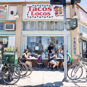 The City of LA and CicLAvia are helping restaurants expand their sidewalk seating and spill into nearby parking lots and car lanes.