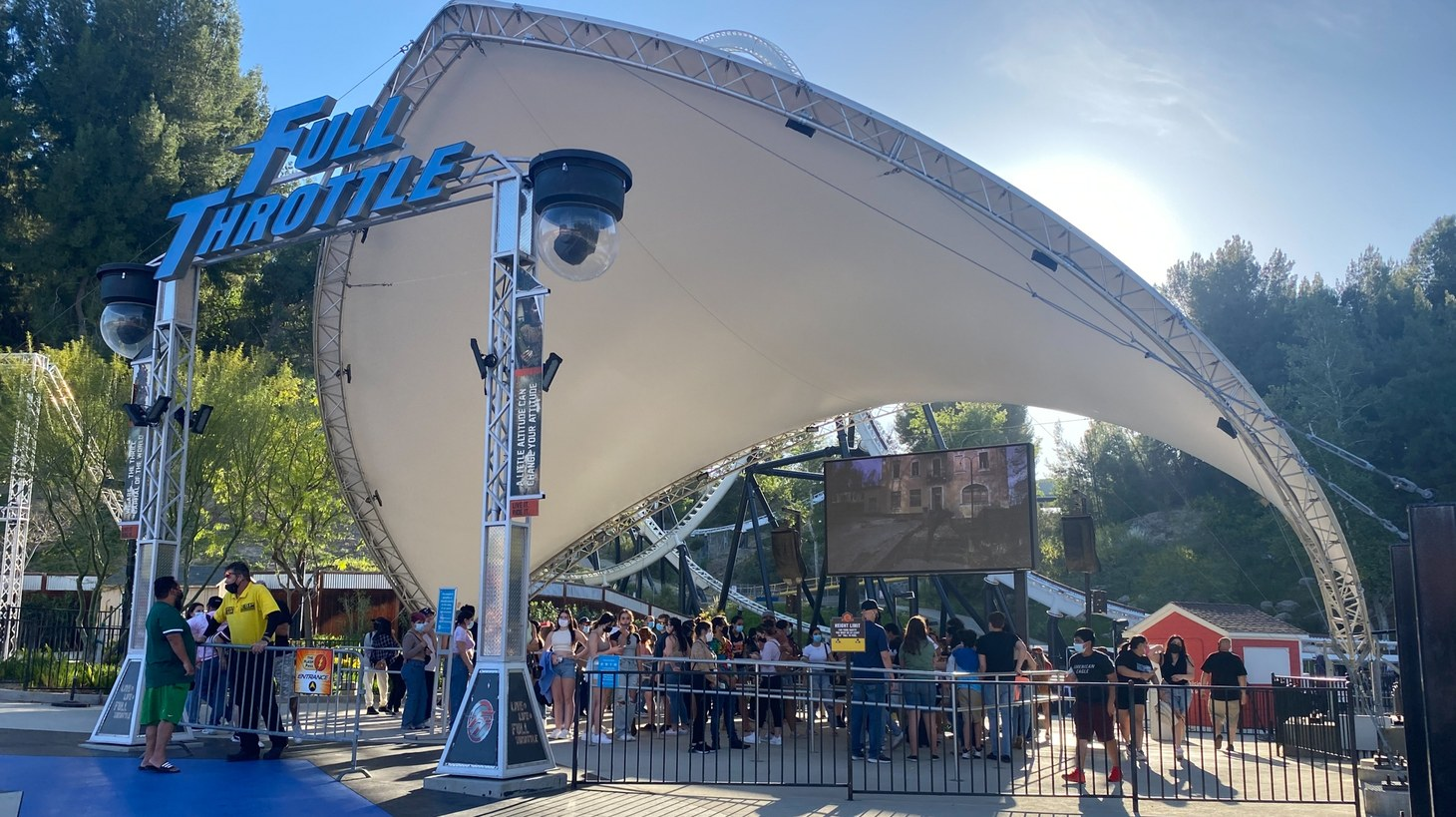 Six Flags recently reopened at reduced capacity. Guests still formed long lines, and not everyone maintained social distancing.