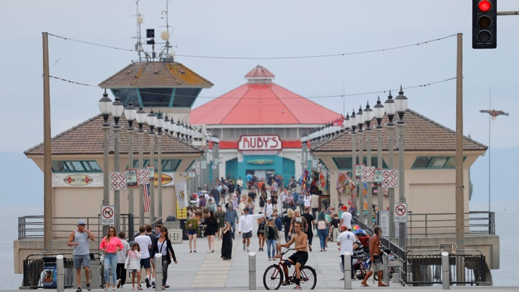 Huntington Beach is a hotspot for people who are skeptical of coronavirus and masks.