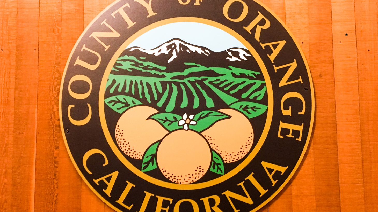 The seal of Orange County.