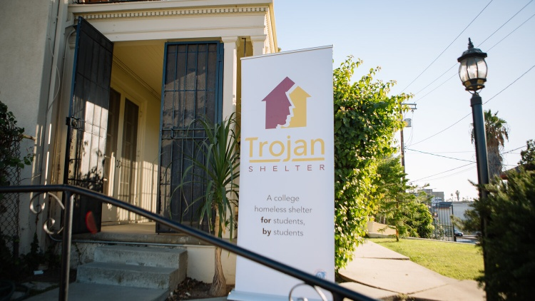 Trojan Shelter is a new homeless shelter in LA, where college students receive three meals a day, peer-to-peer counseling, and assistance in finding permanent housing.