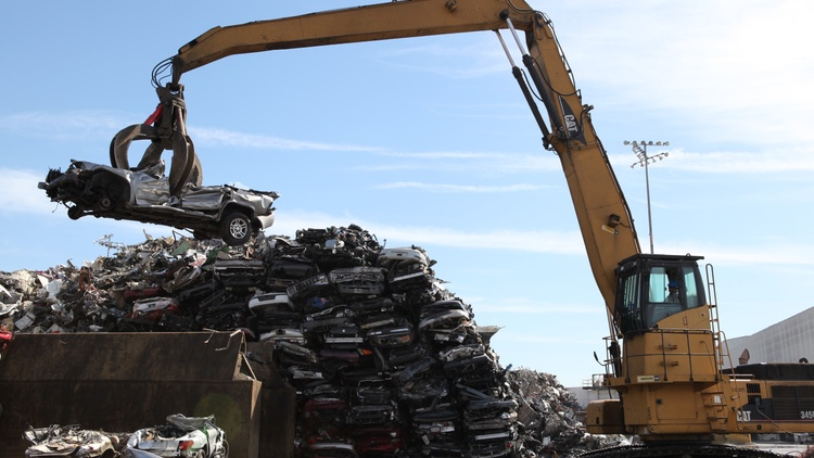 In a Memorial Day rebroadcast of Greater LA's pilot episode, KCRW's Steve Chiotakis visits a giant car shredder between the Ports of L.A.