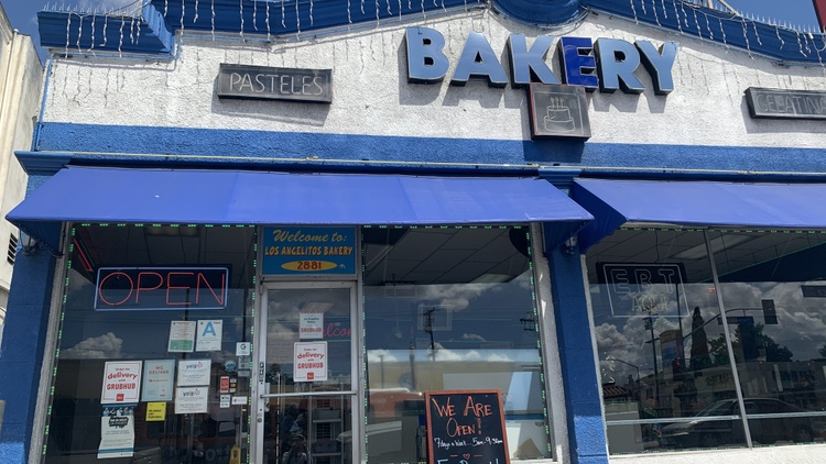 Today's entire show is about how Angelenos are helping their neighbors during the coronavirus pandemic. One Huntington Park bakery is offering free bread to kids each day.