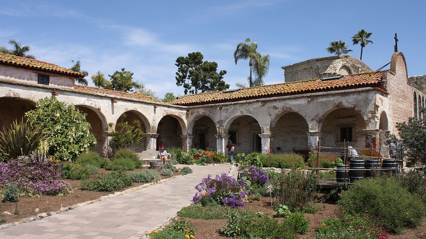 Part of the South Wing of the Mission San Juan Capistrano.