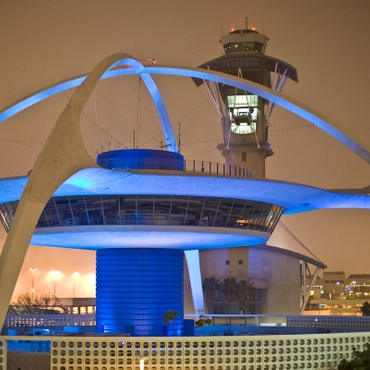 It looks like a big, white flying saucer that landed on its four legs, and if you've taken off or touched down at LAX in the past 50 years, chances are you've noticed it.