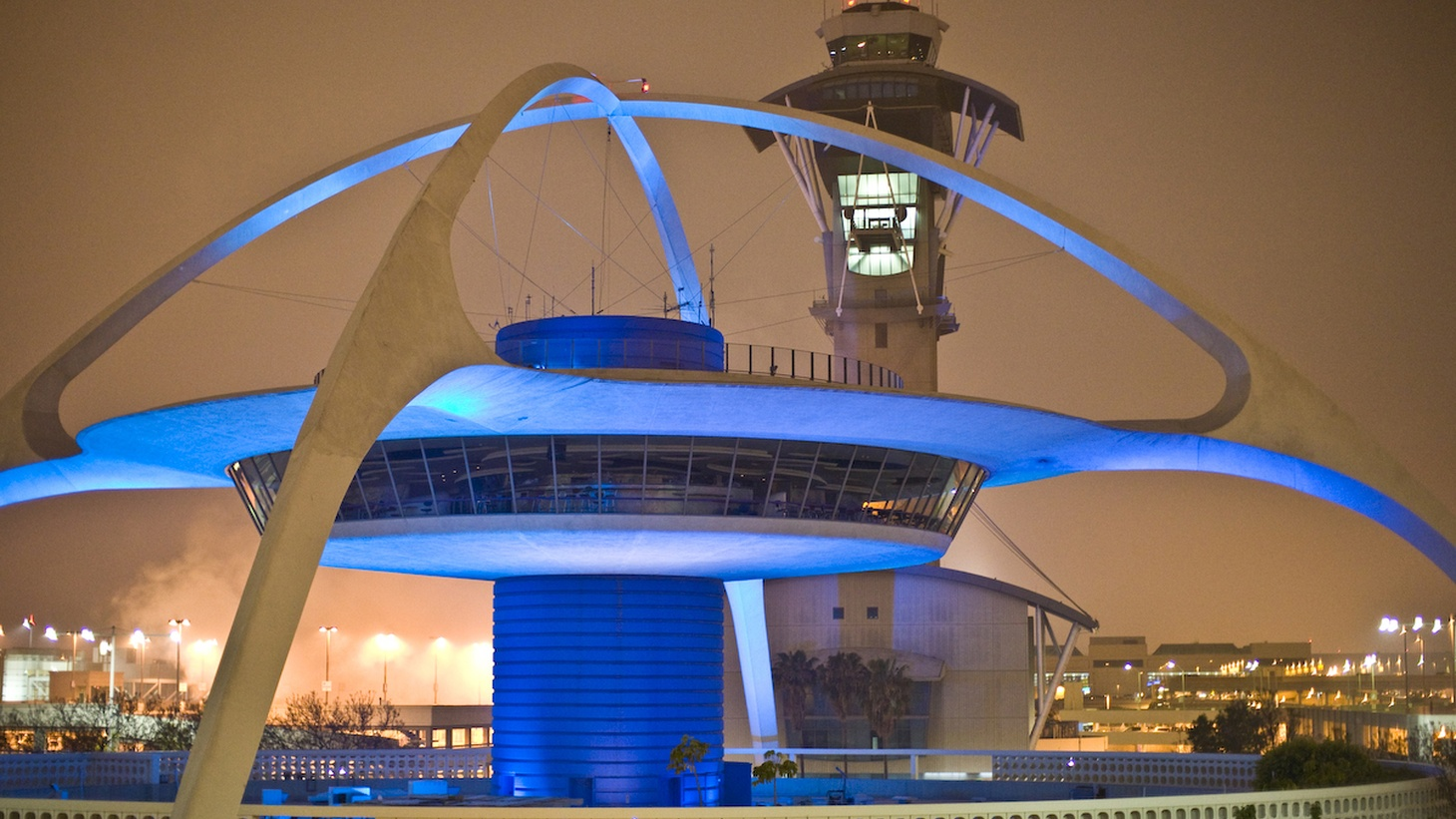 The Theme Building and control tower at LAX.