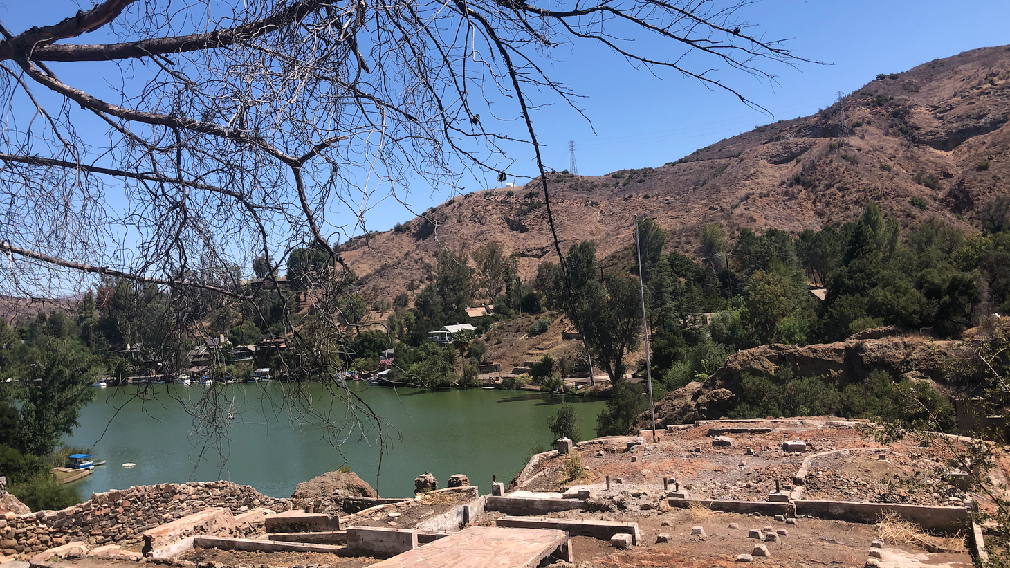 This home burned down in the Woolsey Fire. The lot is for sale, but few people have shown interest in buying it.