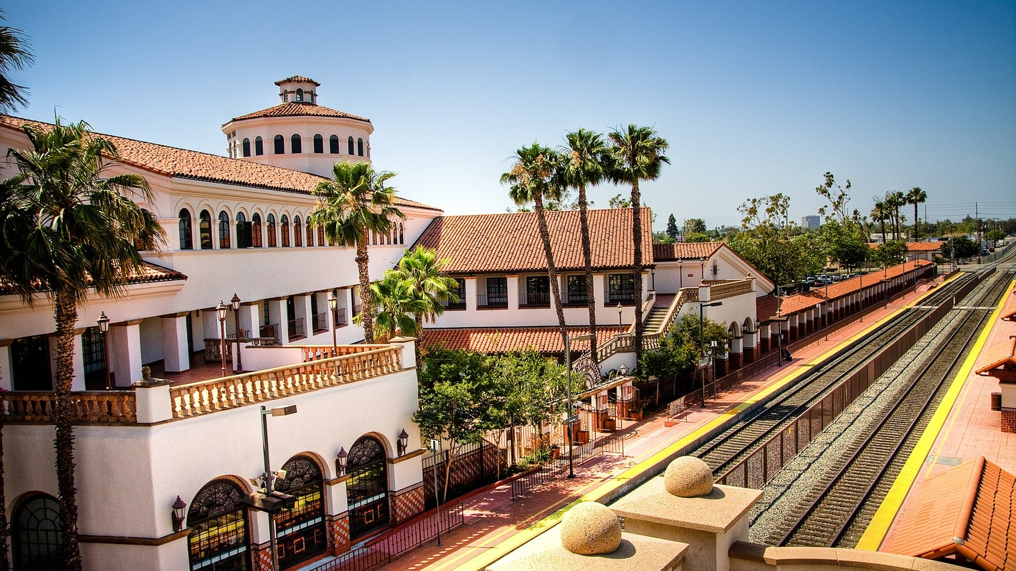 The Amtrak station in Santa Ana, California. Santa Ana has one of the highest concentrations of coronavirus cases in Orange County.