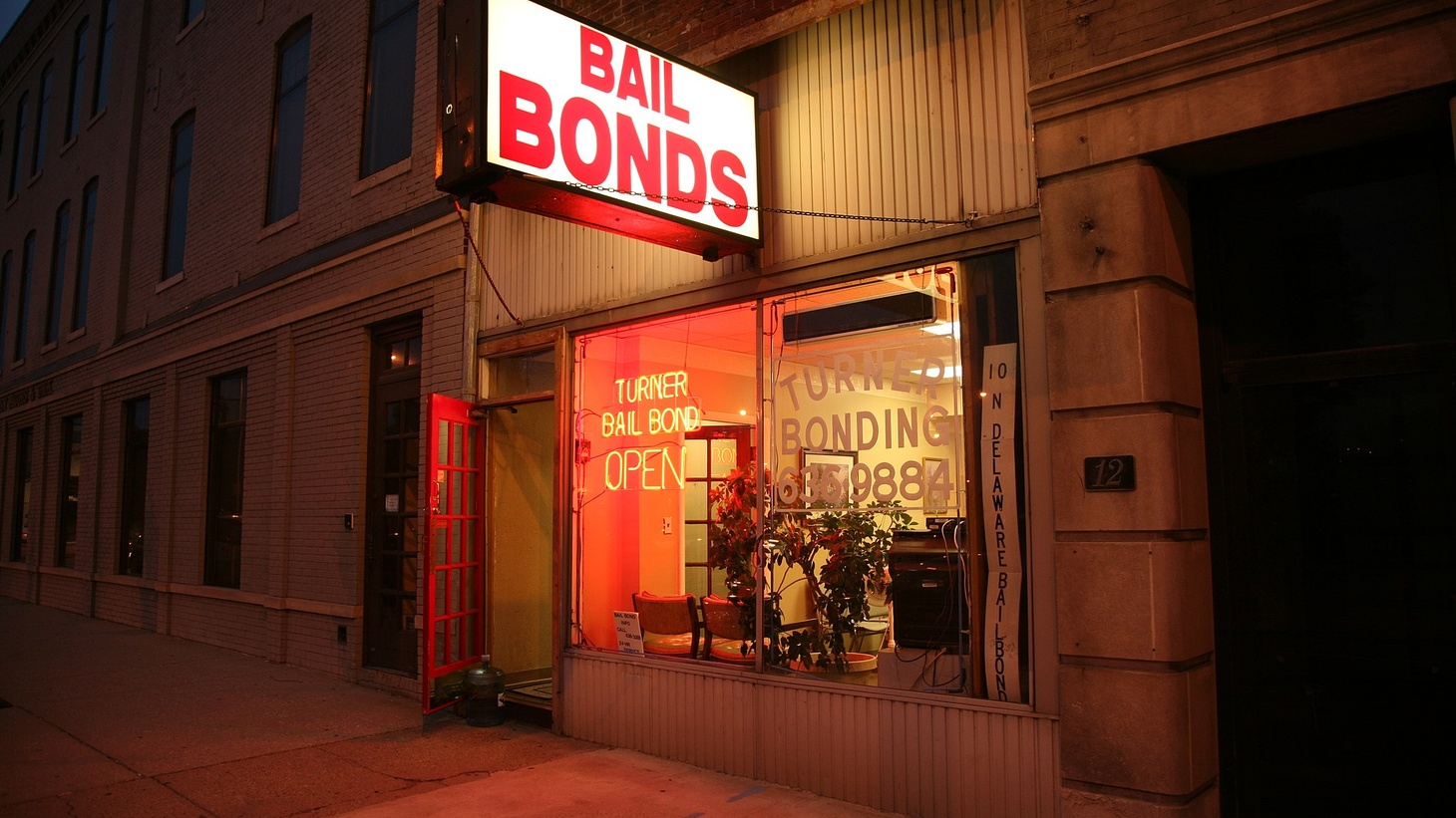 A bail bonds shop. During the COVID-19 pandemic, California officials are turning to zero cash bail and releasing inmates early. Zero cash bail could be permanent if voters pass Senate Bill 10 in November.