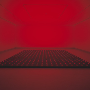 """Japanese artist Tatsuo Miyajima's digital installations are on view at the Santa Barbara Museum of Art. """"I'm very interested in this life and death dynamic."""