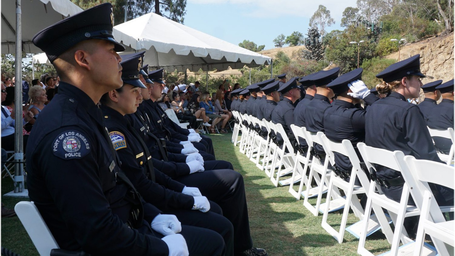 """Los Angeles Police Chief Charlie Beck has announced he'll retire later this year. Beck will leave a 10,000 officer force with a simple motto that's emblazoned on every patrol car: """"To Protect and to Serve."""""""