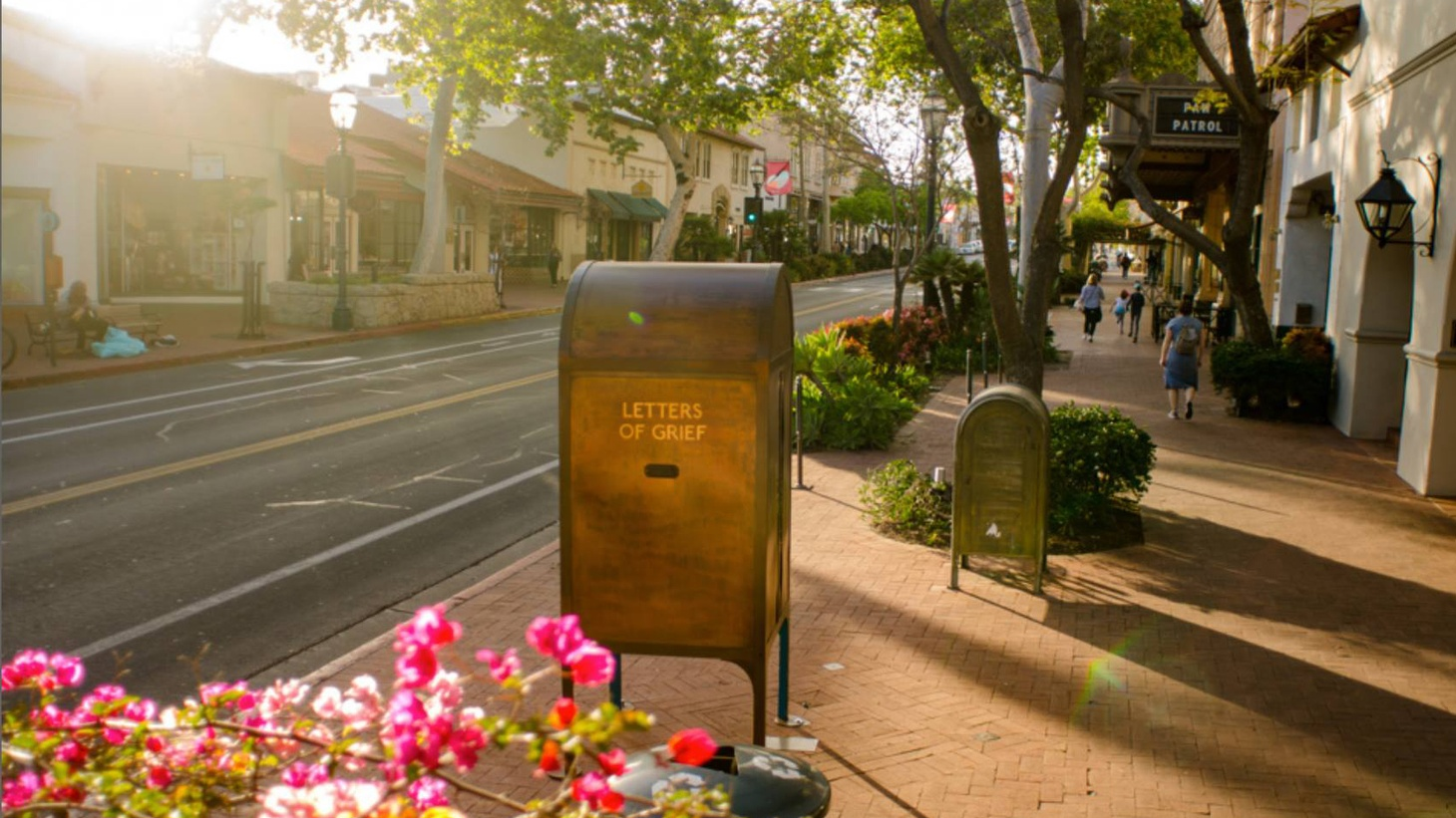 On the corner of State and Anapamu Street in downtown Santa Barbara sits an eight-foot-tall mailbox. You don't need a stamp or an address to drop a letter inside; it's an interactive art installation.