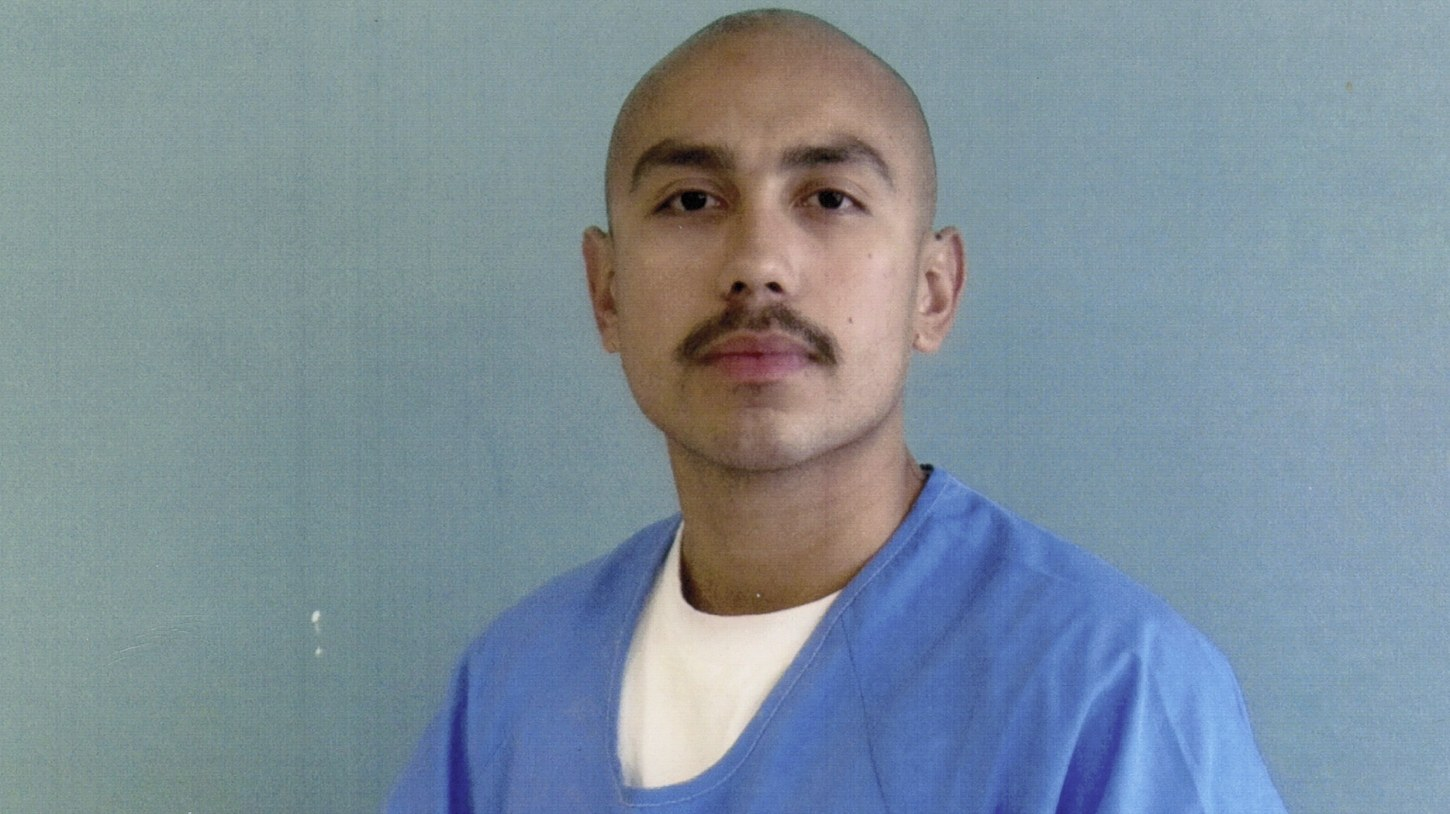 Jose Armendariz, 29, convicted of second-degree murder, poses at the Kern Valley State Prison in 2017. He has since been moved to the Theo Lacy Jail in Orange County, where he and other medically fragile inmates worry that the spread of the coronavirus could be deadly for them.