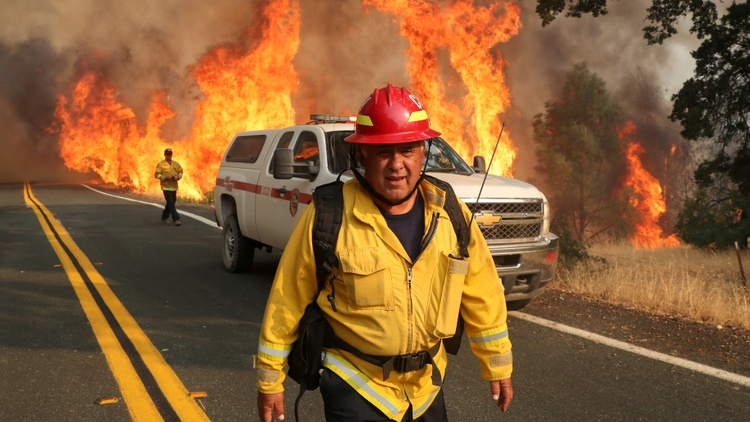 Hundreds of wildfires were ignited across California in recent days.