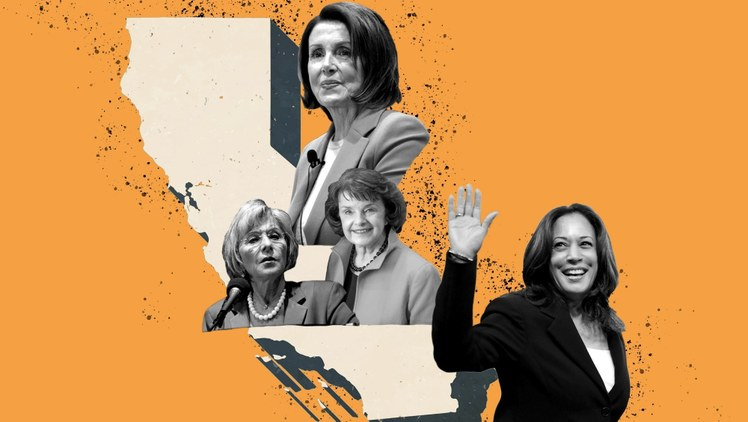 California is home to the first woman vice president-elect, Kamala Harris, and first female House speaker, Nancy Pelosi. So why does it lag on women holding power in the statehouse?