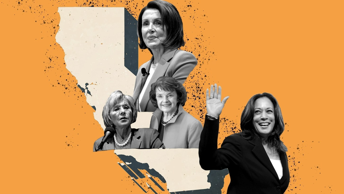 The first female vice president-elect and House Speaker both come from California, a state that also was the first to be represented by two female U.S. senators.