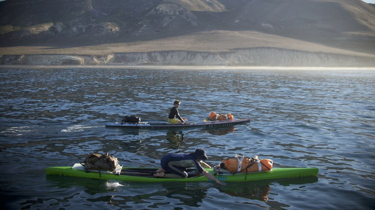 Central Coast brothers paddle from Alaska to Mexico by hand