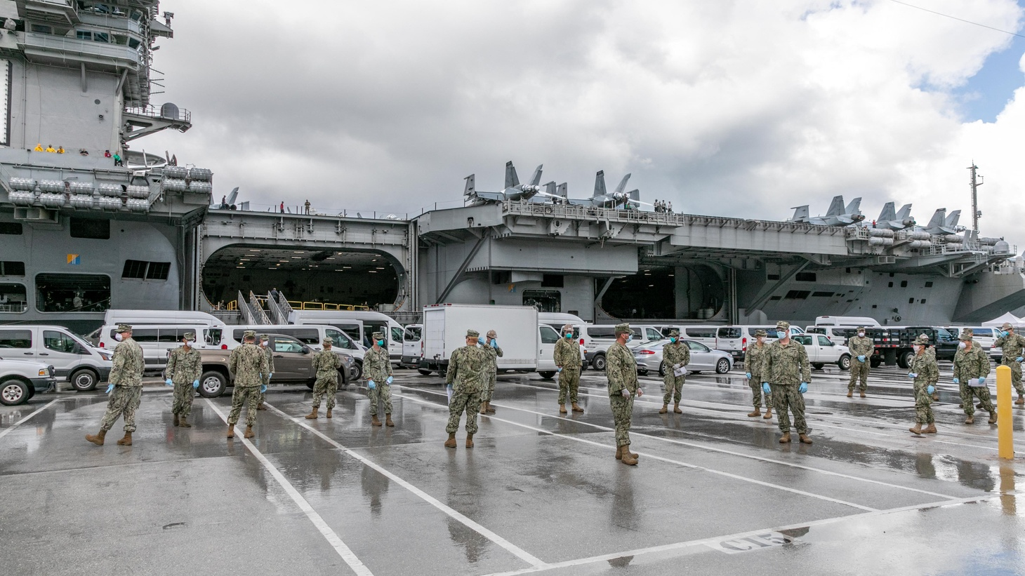 Some sailors aboard the USS Theodore Roosevelt ship tested positive for COVID-19 for a second time, raising concerns over infection.