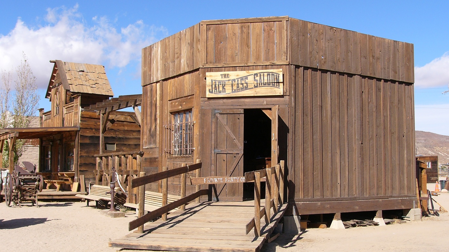 This is one of the western-style saloons you can see in Pioneertown.